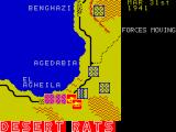 Desert Rats: The North Africa Campaign ZX Spectrum Where Axis & Allied forces are fighting the units flash red / yellow to show there is fighting going on