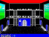 Chicken Chase ZX Spectrum The game starts here with the cockerel sauntering in to see the hen