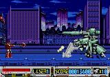 Devastator SEGA CD The first boss is a giant robot cannon.