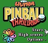 3-D Ultra Pinball: Thrillride Game Boy Color Title Screen