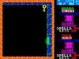 Dawnssley ZX Spectrum The character can get lost in the walls of the chamber sometimes. Above is one of the keys needed to unlock the door to this room