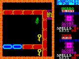 Dawnssley ZX Spectrum This is the start of the second level. Hobbo's energy has not been restored, it stays at the same number as at the last level