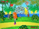 Cindy's Caribbean Holiday Windows Bugs, like the blue one on the left, must be avoided. At the end of level 2 and at the end of the game, the player is given a score