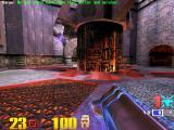 Quake III: Arena Macintosh Got the rocket launcher and Quad damage - blue haze
