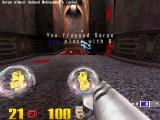 Quake III: Arena Macintosh Fragged Sarge with a rocket shot made him gib all over the walls and he dropped the Quad damage