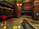 Quake III: Arena Macintosh Fragged two players with rockets with two yellow winged skulls for - double excellent medals