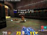 Quake III: Arena Macintosh Quad damage shotgun does the trick