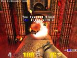 Quake III: Arena Macintosh Klesk explodes from near point blank rocket shot