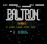 Baltron NES Title screen