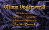 Ultima Underworld: The Stygian Abyss DOS Main Menu