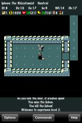 NetHack iPhone Thrilling combat
