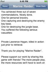 Marine Raider iPhone Well done, but there's still lots of room for improvement.