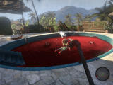 Dead Island Windows Terrifying scene: a guy has killed his zombie-infected relatives in a pool of blood