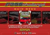 F355 Challenge: Passione Rossa PlayStation 2 Menu screen.