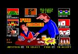 Pub Games Amstrad CPC Main menu