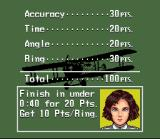 Pilotwings SNES Scoring explained, on every mission you can earn 100 points by: 1. performing the mission objective (like going through a series of rings), 2: performing your task within a certain time and 3: executing an accurate and controlled landing.