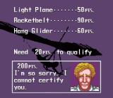 Pilotwings SNES You need to do (very) well on each of the missions to score enough points to complete a lesson