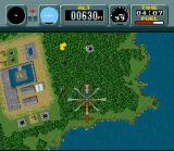 Pilotwings SNES ...in which you get to fly a chopper and shoot down baddies. When you complete this level the game enters expert mode