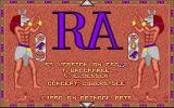 The Curse of RA Atari ST Title screen
