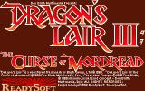 Dragon's Lair III: The Curse of Mordread Atari ST Title screen