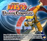 Naruto: Uzumaki Chronicles PlayStation 2 Title screen