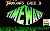 Dragon's Lair II: Time Warp Atari ST Title screen