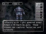 Nectaris: Military Madness  PlayStation A look at an Infantry unit