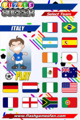 Puzzle Soccer iPhone menu