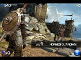 Infinity Blade iPad Before battle you can get info on your enemy - Horned Guardian