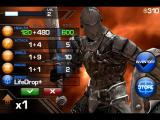Infinity Blade iPad Items you have earned from combat and experience can be managed between battles