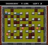 Bomberman II NES Another level of bricks and an enemy that can move through walls