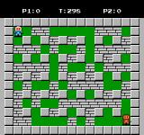 Bomberman II NES This is where players start in a battle game