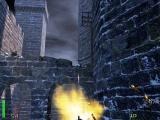 Return to Castle Wolfenstein Macintosh Mounted machine gun taking out snipers on stone walkway
