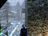 Return to Castle Wolfenstein Macintosh On a mounted machine gun overlooking the courtyard taking out the guards