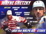 Wayne Gretzky and the NHLPA All-Stars DOS Main menu