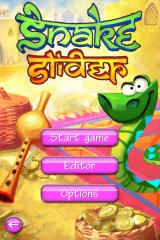 Snake Slider iPhone Title screen and main menu