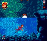 Spirou Genesis Blasted Cave! I hate swimming in this game.