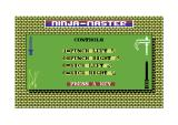 Ninja Master Commodore 64 Here are the controls