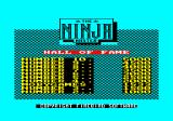 Ninja Master Amstrad CPC The Hall of Fame with me in it.