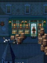 Sherlock Holmes: The Official Movie Game J2ME Holmes hiding behind a crate