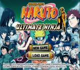 Shonen Jump: Naruto - Ultimate Ninja PlayStation 2 Title screen with main menu.