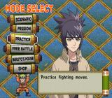 Shonen Jump: Naruto - Ultimate Ninja PlayStation 2 Mode screen.