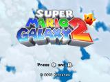 Super Mario Galaxy 2 Wii Title Screen