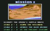 Shadow Dancer Commodore 64 Mission 2 Briefing