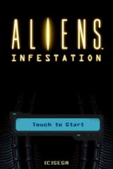 Aliens: Infestation Nintendo DS Title Screen