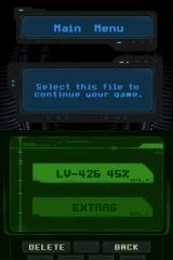 Aliens: Infestation Nintendo DS Main Menu
