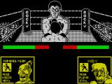 Rocco ZX Spectrum This is the game screen. Rocky / Rocco has his back to the player and his stats are over on the right