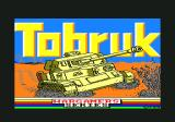 Tobruk: The Clash of Armour Amstrad CPC Title screen