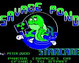 Savage Pond BBC Micro Title screen