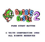 Bubble Bobble Part 2 NES Japanese title screen